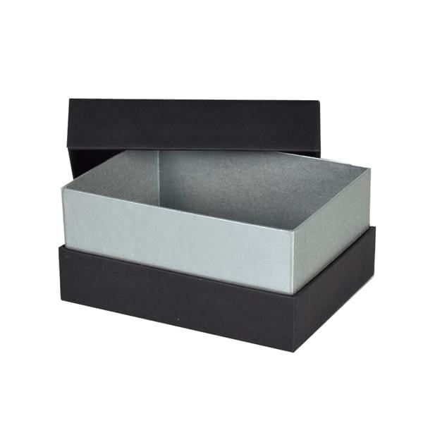 Boite à fermeture gorge carton noir rigide pour packaging cadeau