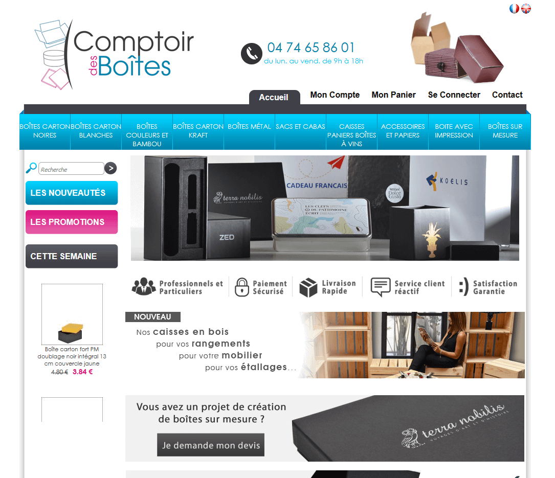 Capture site aucomptoirdesboites.com
