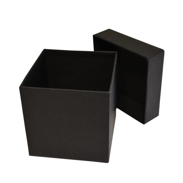 boite carton à fermeture cloche noir haute plate luxe