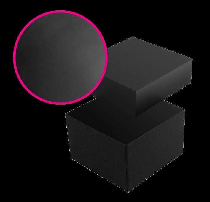 Boite carton papier chalk imprimé finition soft touch luxe